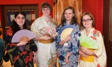 "A strong team of volunteers helped Elizabeth Walker with ""A Taste of Japan"" on May 22, a fundraising dinner to help her get the money necessary to finance her upcoming trip to Japan as a Rotary Interact exchange student. L-r, Neda Amini, Elizabeth Walker, Stephanie Docs and Emily Sharpe."