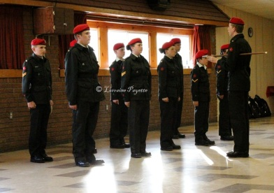 The Number 492 Military Police Canadian Army Cadet Corps held their annual parade and review at the Gananoque Recreation Centre on May 22