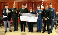 The Number 492 Military Police Canadian Army Cadet Corps presented a cheque for $200.00 to the Military Police Fund for Blind Children, an amount which was matched by Royal Canadian Legion Branch 92