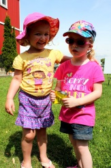 Annabelle and Abigail, both 3, enjoyed participating