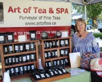 Linda Davis brought her teas