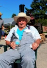 Rupe Green, 91, taking a well earned break from steaming corn