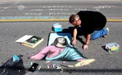 Chalk artist David Day