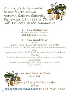 GDHS Autumn Gala Invitation