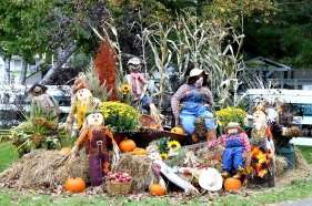 There is no limit to the imagination for making scarecrows
