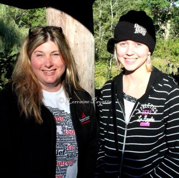 Lansdowne Run founder Lisa Marie Gow with 2012 Terry's Team member McKenna Modler