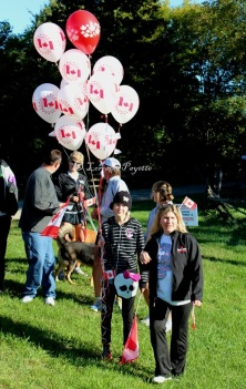 McKenna and Lisa Marie get ready to launch the 2012 memory balloons