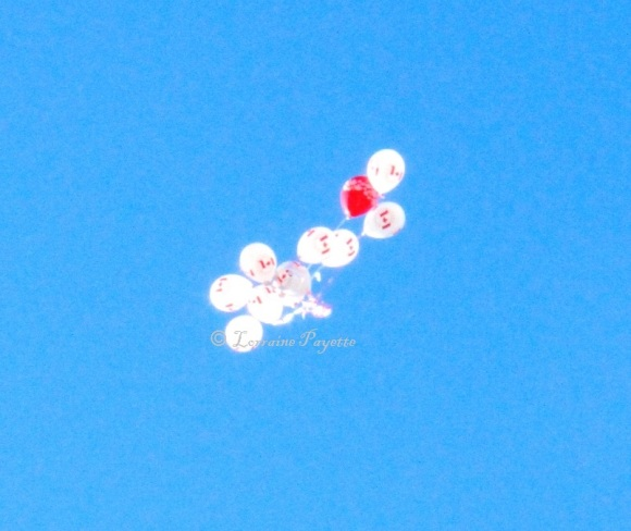 First memory balloon launch at Landon Bay in 2012