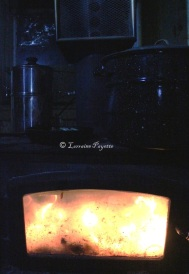 A small woodstove performs many tasks