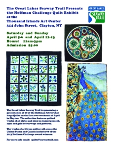 2014 quilt exhibit poster - Clayton