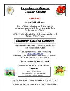 Summer Garden Contest Flyer