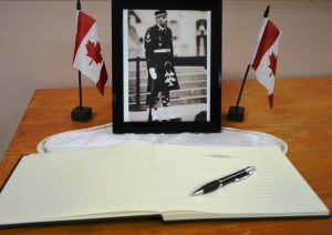 Book of Condolence for Corporal Nathan Cirillo
