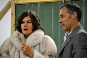 Krista Colosimo and Todd Thomson in rehearsal for Don't Dress for Dinner. Photo provided by the Thousand Islands Playhouse