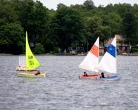 Campers sail on Big Rideau Lake