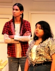 Taran Kootenhayoo (Tonto) and Joelle Peters (Barb) in rehearsal